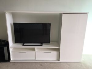White TV Stand Chermside Brisbane North East Preview