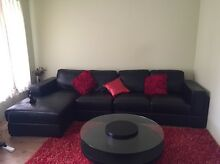 Leather Sofa & Table & red matt!!! East Cannington Canning Area Preview