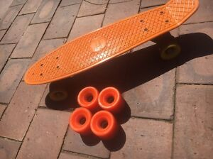 Penny Board Skateboard + $80 Orangatang Wheels (WANT GONE ASAP!!) Rostrevor Campbelltown Area Preview