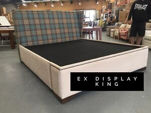 Stunning King Bed Frame - Ex Display Dandenong South Greater Dandenong Preview
