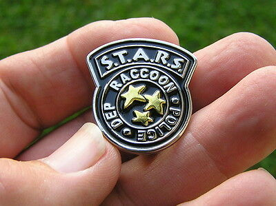 RESIDENT EVIL STARS LAPEL PIN Badge S.T.A.R.S. RACOON POLICE DEPT Movie Hat Pin