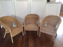 Kids wicker chairs x3 Taren Point Sutherland Area Preview