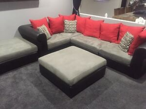 Leather and suede lounge Parramatta Parramatta Area Preview