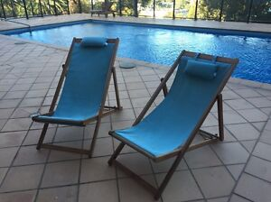 2x Freedom deck chairs Milsons Point North Sydney Area Preview