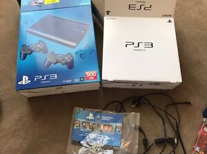 PS3 Slim Blue 500 GB + two controllers + 7 games Harrison Gungahlin Area Preview