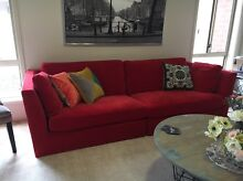 IKEA Stockholm Red Velvet 3 Seater Couch Bendigo Bendigo City Preview