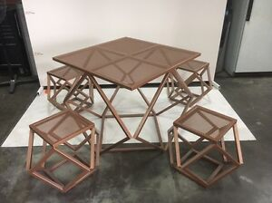 Rose  Gold table with chairs Eden Hill Bassendean Area Preview