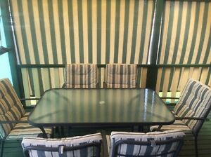6 seater outdoor setting Airds Campbelltown Area Preview