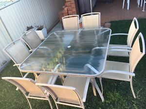 Outdoor Setting - 9 Piece - square table and 8 chairs Ermington Parramatta Area Preview
