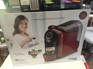 Caffitaly coffee maker with pods.  Red. East Toowoomba Toowoomba City Preview