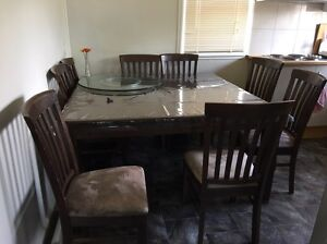 8 Seater Dining Table & Chairs Casula Liverpool Area Preview