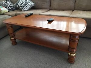 Wooden coffee table Mount Nelson Hobart City Preview