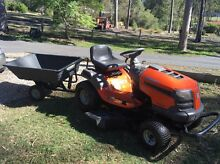 HUSQVARNA 08 ride on mower LTH1742 with trailer Cedar Vale Logan Area Preview