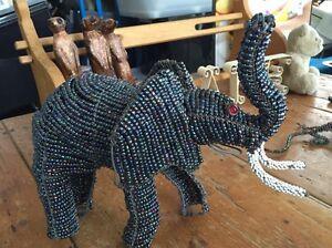Beaded elephant statue Randwick Eastern Suburbs Preview
