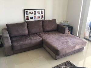 Brown suede sofa Hillsdale Botany Bay Area Preview