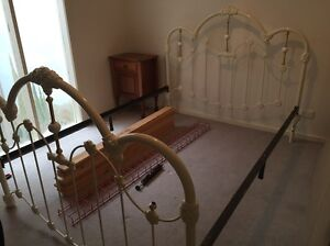 Antique bed frame with mattress. East Melbourne Melbourne City Preview