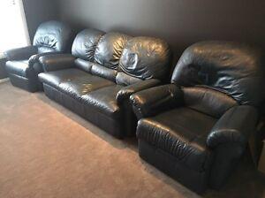 Leather lounge Harrington Park Camden Area Preview