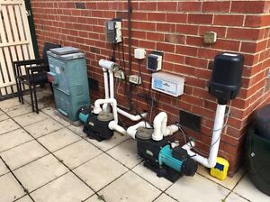 Complete spa pool pumps, heater, chlorination and bubbler equipment Murrumbeena Glen Eira Area Preview