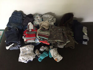 Bulk winter baby boys size 0 clothes Fig Tree Pocket Brisbane North West Preview