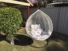 Egg chair swing with floral cushion Camden Camden Area Preview