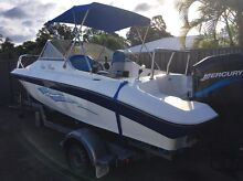 2009 18ft 1/4 Cabin Fiberglass Boat With 125 HP Mercury Outboard Ashmore Gold Coast City Preview