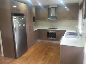 Kitchen with stone benchtop Georges Hall Bankstown Area Preview