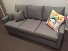 As new 3 seater Sofa Bed with Queen Size Latex Mattress Waterloo Inner Sydney Preview