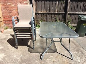 Free aluminium and glass outdoor table Kensington Melbourne City Preview