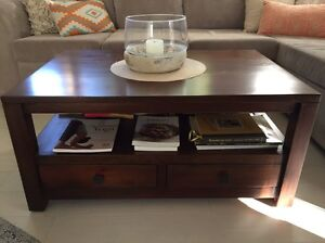 Chocolate Wood Coffee Table North Narrabeen Pittwater Area Preview