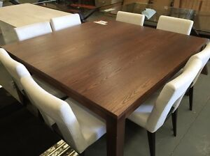 1.5m Square Harwood Dining Table - Ex Display Dandenong South Greater Dandenong Preview