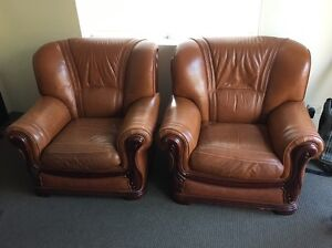 Used leather lounge for sale Haberfield Ashfield Area Preview