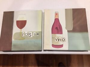 Canvas picture set for wine lovers Halls Head Mandurah Area Preview