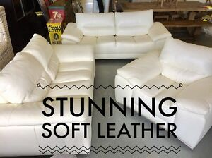 High End Leather Sofa Set - SALE Dandenong South Greater Dandenong Preview