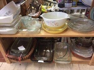 Vintage Pyrex Agee crown glass ovenware bakeware dishes tray bowl Queenstown Port Adelaide Area Preview