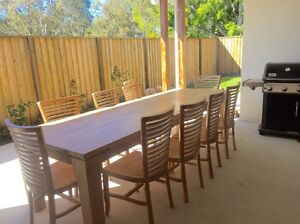 VAST interior 10 seater mango hardwood dining/outdoor setting Bridgeman Downs Brisbane North East Preview