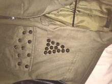 Army green with leather sleeves jacket Watson North Canberra Preview
