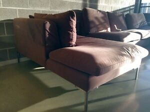 Single Suede Chaise Lounge - RRP $800 - Domayne Furniture - Sofa Couch Leichhardt Leichhardt Area Preview