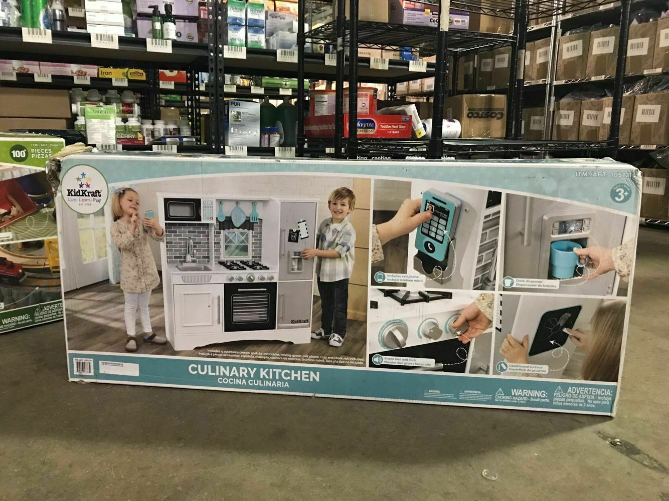 NIB KidKraft Culinary Kitchen. White. Ages 3+ .Includes