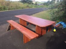 MAKE OFFER- Timber Slab Table Kureelpa Maroochydore Area Preview
