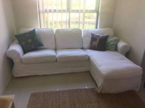 3 seater lounge with chaise white Ikea ektorp RRP $699 Dundas Valley Parramatta Area Preview