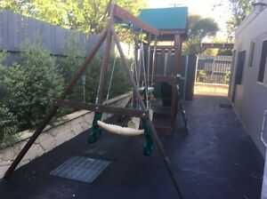 Outdoor swing slide and cubby house - Cedar Yarralumla South Canberra Preview