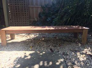 Hardwood timber TV table Blackburn Whitehorse Area Preview