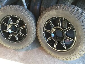 "Set of wheels toyota 5 150 landcruiser ifs 18"" rims a/t mud tyres Waterford Logan Area Preview"