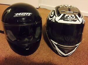 ** 2 motorbike helmets - perfect condition L & XL** Ormond Glen Eira Area Preview