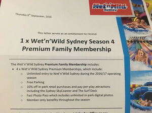 4 x Wet 'n' Wild Sydney Premium Memberships Middle Dural The Hills District Preview