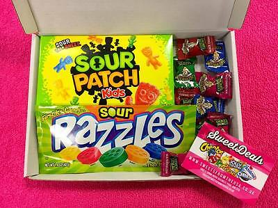 EXTREME SOUR Gift Box - Birthday Sweets American Retro USA Candy Razzles Warhead
