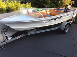 Sportsman 13ft tinny on a galvanised tilt trailer Forster Great Lakes Area Preview