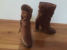Novo size 5 tan boots with heel Hilton Fremantle Area Preview
