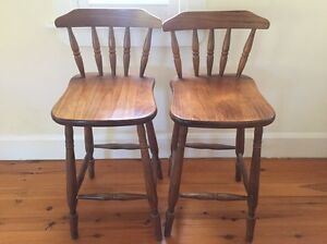 2 Timber Kitchen Stools Balgowlah Manly Area Preview