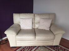 Cream leather lounge Seaford Morphett Vale Area Preview